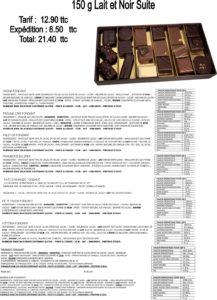 ballotin de chocolat noir et lait 150g
