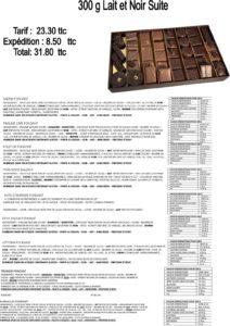composition ballotin chocolat noir et lait