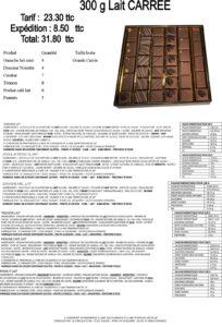 ballotin de chocolat au lait